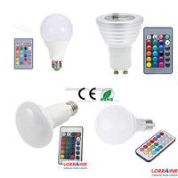 LED buld 9W 10w E27 Remote Control LED Bulb Light 16 Colors Changing 85V~265V LED RGB Bulb