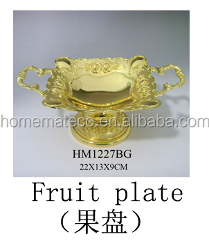 Mirror fruit plate S,M,L three size household wedding decoration best selling new item metal fruit dish home&table decoration