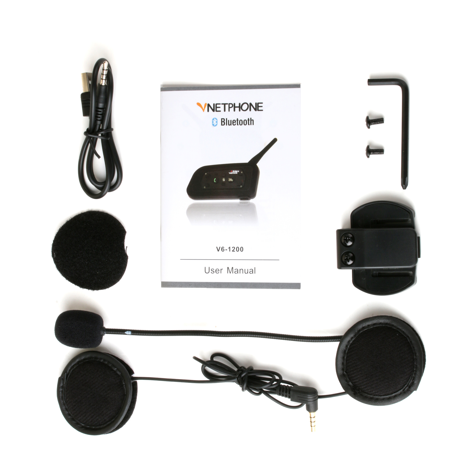 Мотоцикл Bluetooth interphone V6-1200