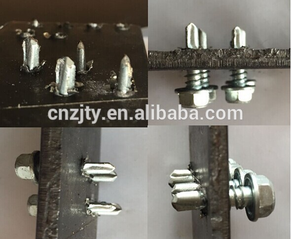 Sanwich Panel Self Drilling Screw taiwan With Gery EPDM Sealing Washer Zinc Plated