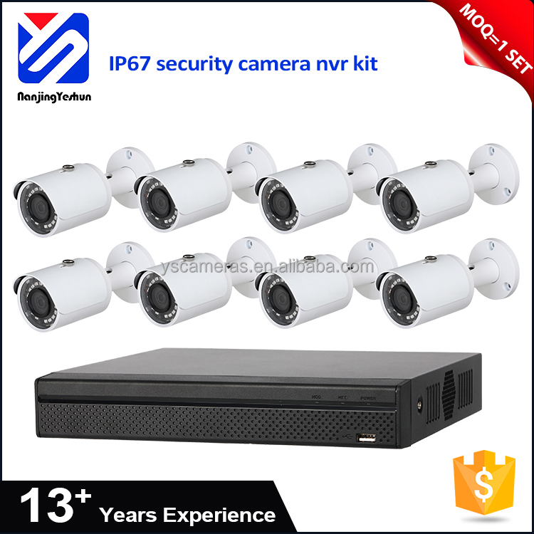 Factory price 8 channel nvr kit 18pcs IR LEDs fixed lens security cctv nvr camera