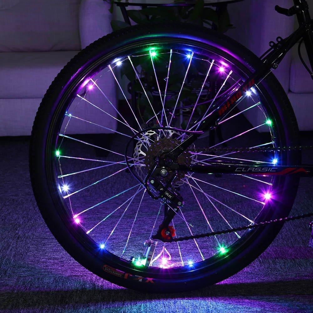 20 LED Bike Bicycle Cycling Rim Lights LED Wheel Spoke Light String Strip Lamp