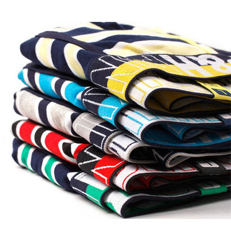 95 algodón 5 elástico Tricolor rayas Calzoncillos bóxer de hombre cinturón suave algodón Yard teñido verde hombres ropa interior