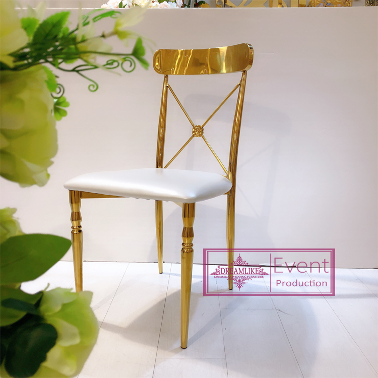 Wedding chairs cross back stainless steel modern chairs for wedding and events