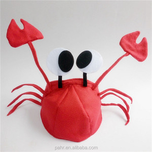 Funny Animal Red Crazy Crab Hat Festival Supplies Carnival Costume
