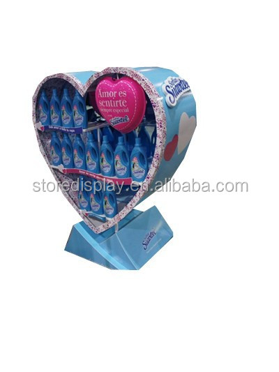 Heart shape display stand for shampoo advertising in supermarket from China supplier