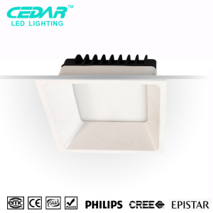 20W anti-dazzle Square led downlight, Recessed down light 3 years warranty