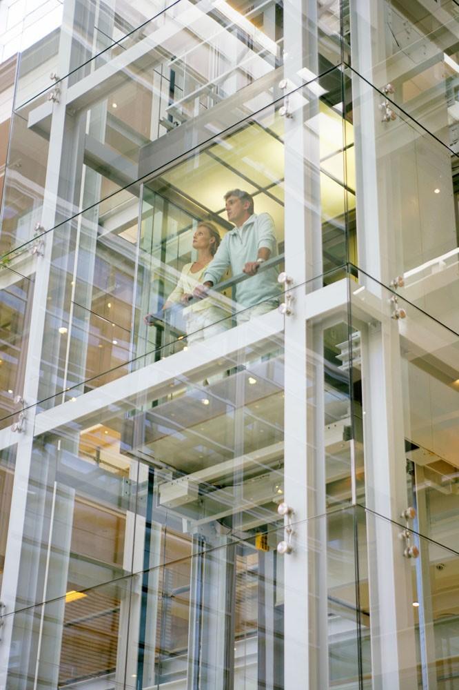 Oria Modern Design Glass Commercial Elevators Tourist