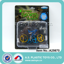 Funny kids miniature die cast model bicycle toy
