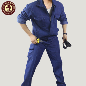 Summer denim overalls suit male cotton factory clothing welding work clothes