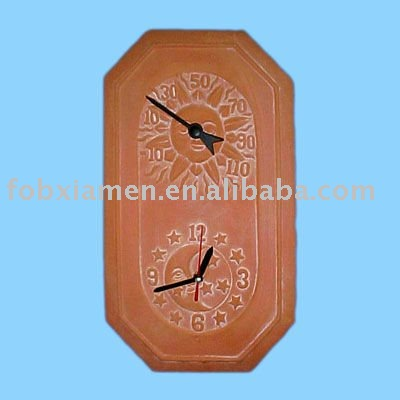 Lovely Terracotta Garden Clock With Thermometer Wholesale, Garden Clock Suppliers    Alibaba
