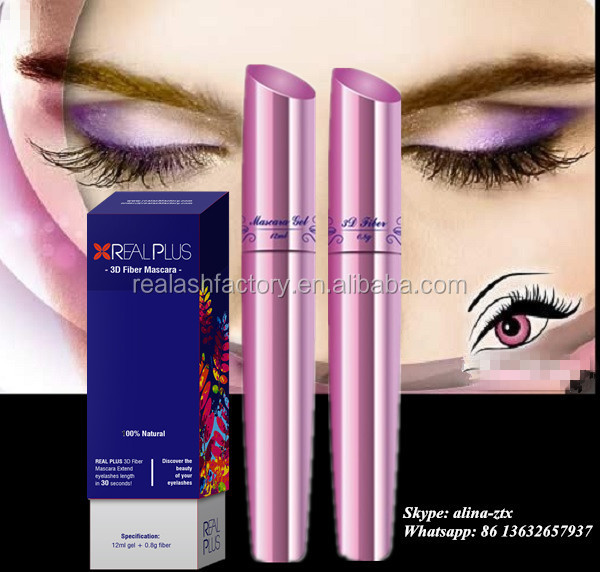 Personal lash extender herbal cosmetics wholesale distributor Real Plus 3D fiber mascara