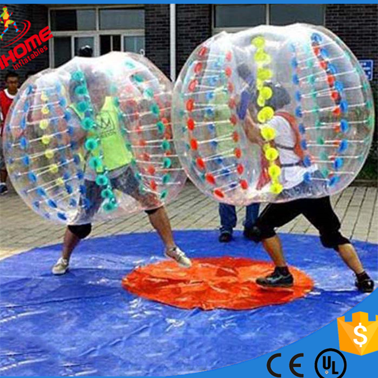 Fashion gaint TPU inflatable zorb bubble soccer ball