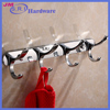 China Suppliers Wall Mounted Family Hotel Use Simple Modern Toilet Accessories Robe Coat Hook Zinc alloy