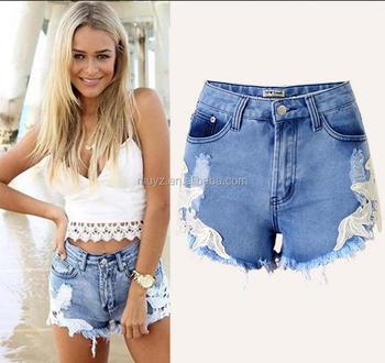 ripped denim shorts for women