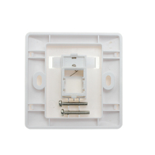 Clear eco-friendly 1port outlet faceplate