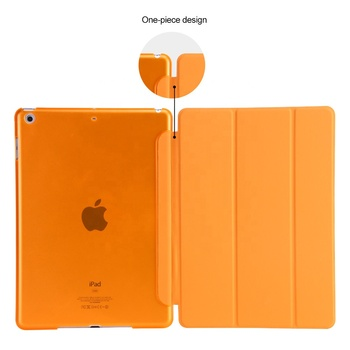 Clear Back Cover Front PU Case for iPad 9.7 2017