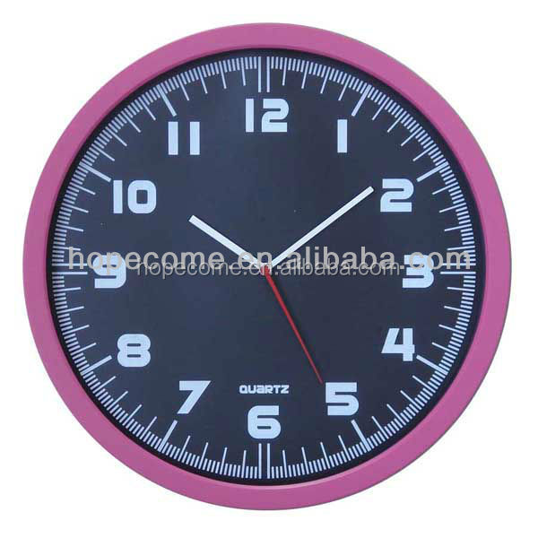 (HC2514) Many color plastic fashion wall clock household products manufacturers