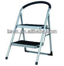 2 tier folding steel step ladder EN14183 KC-7012GS