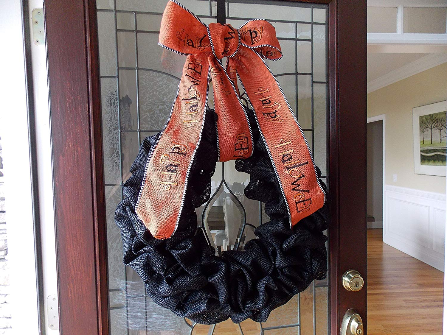 Halloween Wreath-Halloween Wreaths-Fall Wreath-Fall Wreaths for Front Door-Black Wreath-Burlap Wreath-Wreaths for Front Door-Fall Door Decor-Fall Door Wreaths