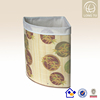 best selling triangle bamboo color printing laundry hamper
