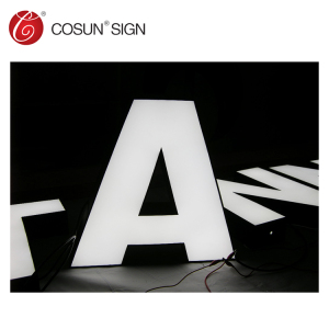 custom made acrylic led sign kit box with all types sign