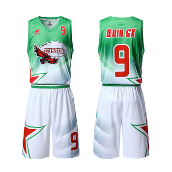 5517f14e79f Cheap green and white custom basketball clothing adult team club basketball  jersey best basketball singlets set