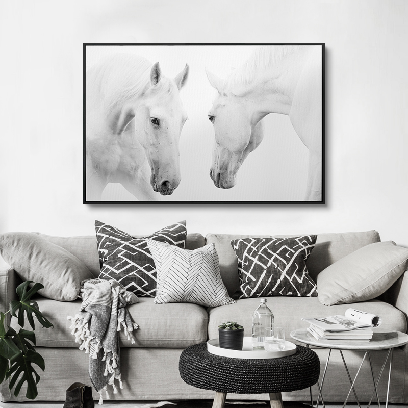 White Horse Designs Image Paintings Art On Canvas