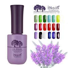 Free shipping 6pcs Inail Lavender Aroma UV LED Gel Nail Polish 15ml 78 PURE colors for