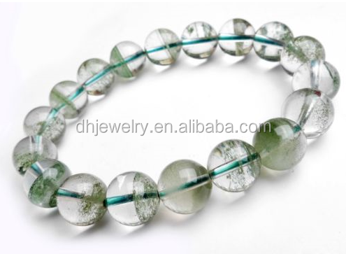 Natural Green Phantom Quartz From Cornucopia Beads Bracelet