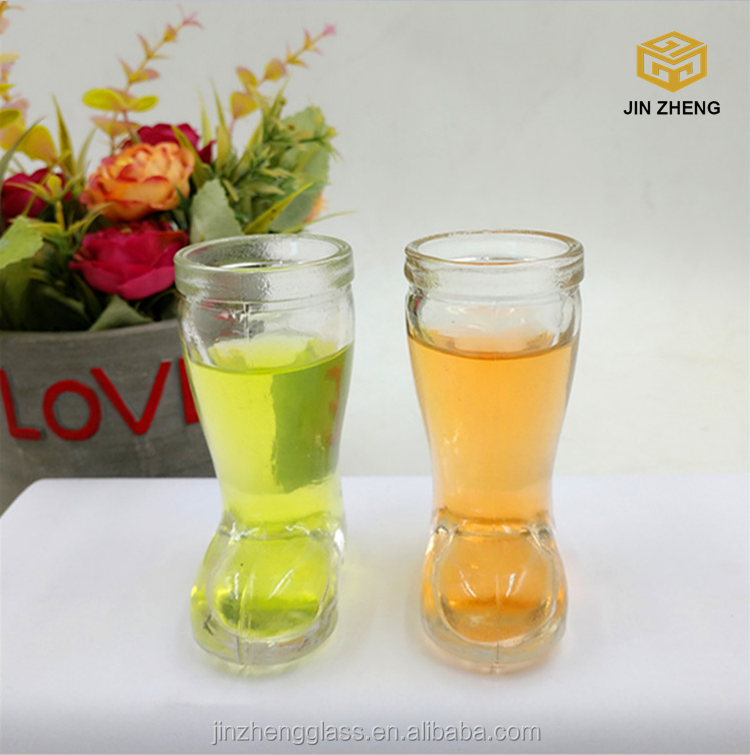 50ml clear glass shoes shape liquid drinking bottles wholesale