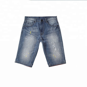 OEM ODM Men's Ripped Jeans Shorts Distressed Men's Slim Fit Summer Shorts Skinny Stretch Jeans