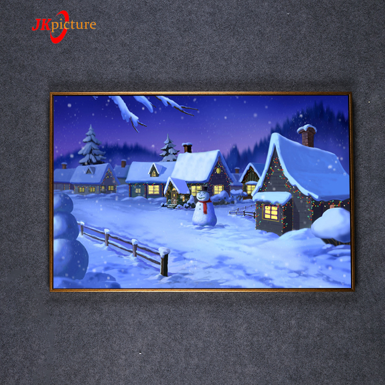 2019 Good quality Christmas theme snow-covered landscape canvas wall art
