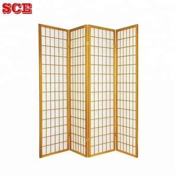 Pine Wood Folding Screens Room Divider