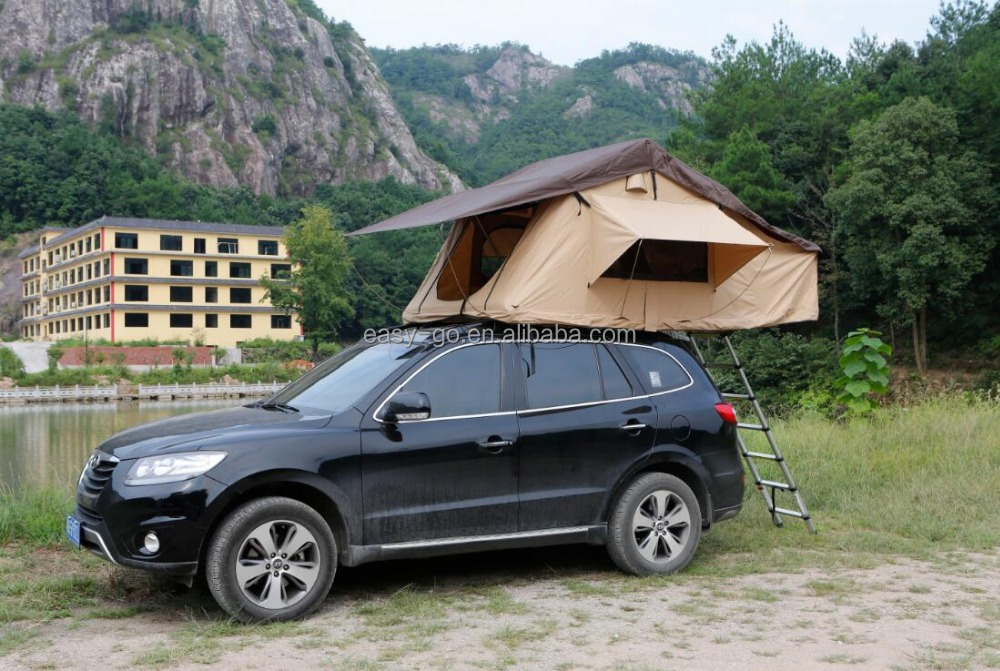 2016 hottest suv car roof top tent optional with Car side awning or mosquito net