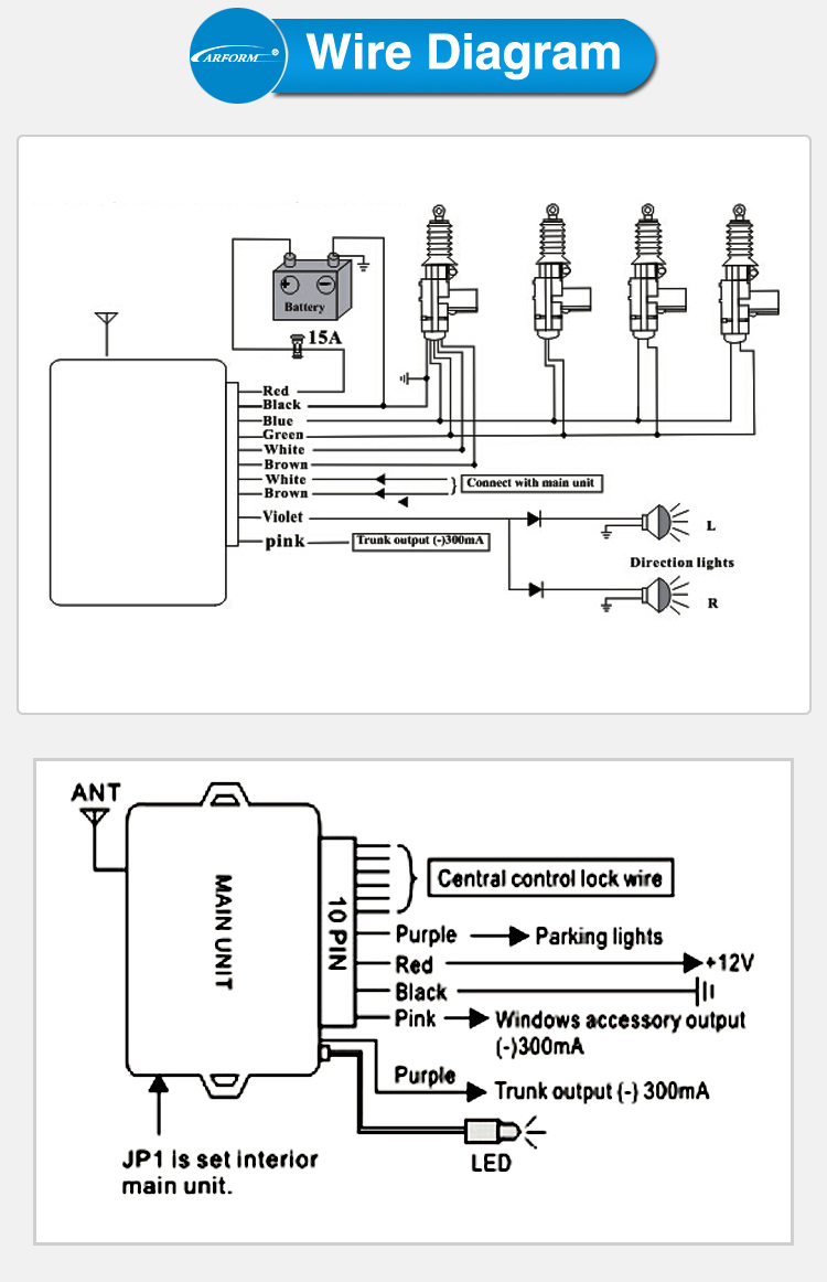 central door locking system diagram motor central locking system Door Lock Actuator Wiring Diagram