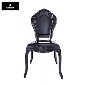 Black Resin Bella Chairs for Living Room Furniture