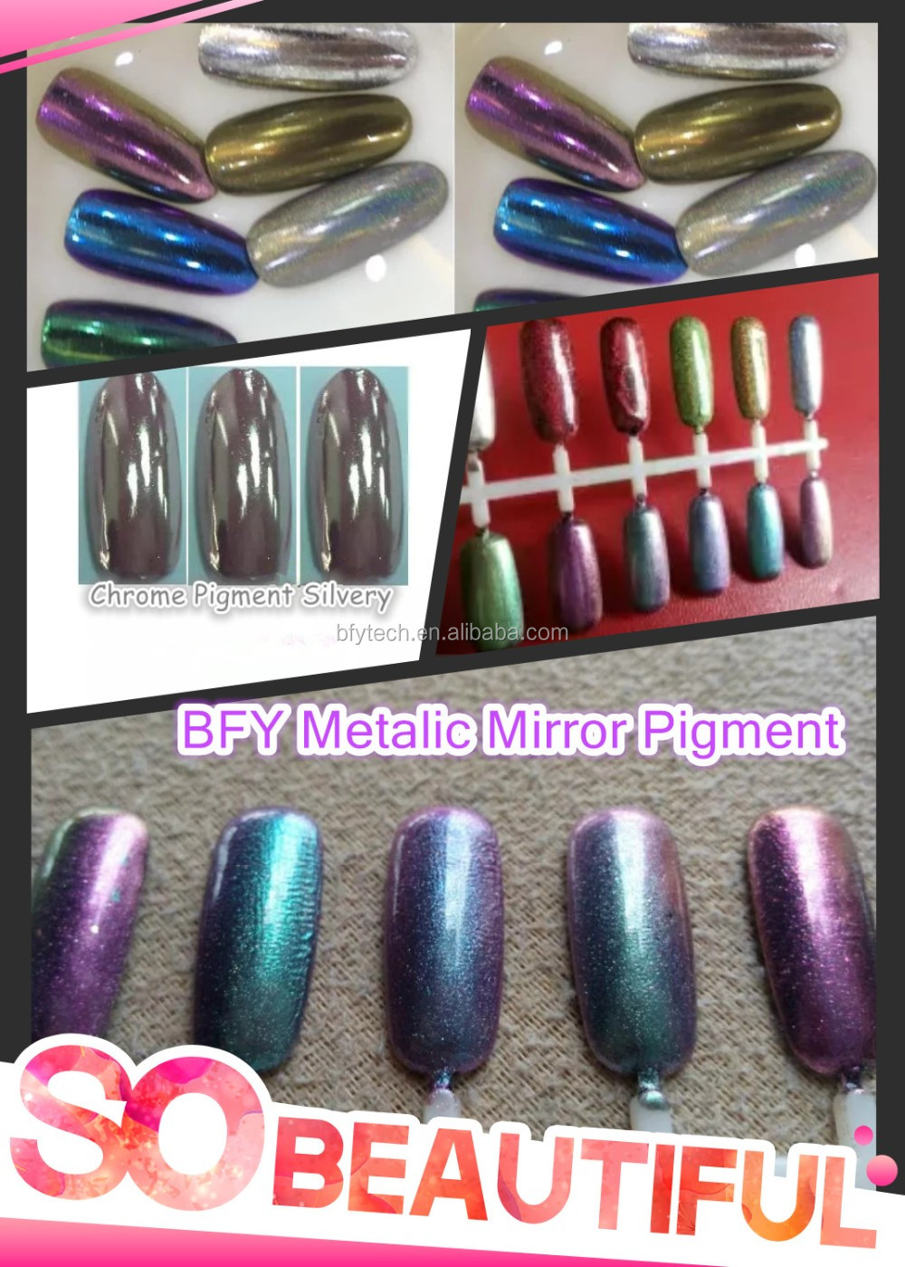 Ongles effet holographique for Vernis a ongle effet miroir