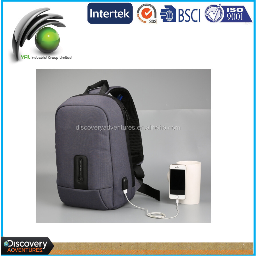 "Functional good quality durable Nylon 10.1"" powerbank Single shoulder notebook PC backpack"