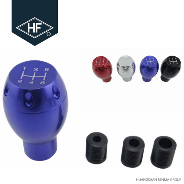 Cor Do Carro personalizado 5 Engrenagem Speed Shift Knob