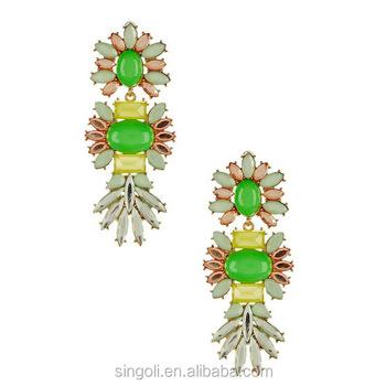 Ada Stone Earrings Alibaba Website Diamond India Jewelry Multil Colored Crystal Chandelier