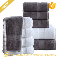 Manufacturers Wholesale Cotton Jacquard Dobby towel set Soft Quick Dry Bath Towel for home hotel use