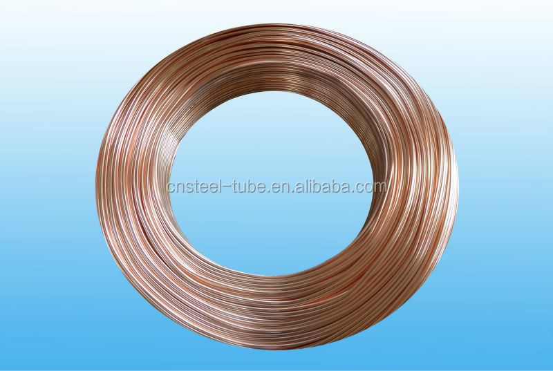 Changzhou Copper Coated Double Wall Steel Pipe Widely Used For Chiller Refigerator etc With The Standard Of ASTM A254