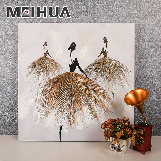 Wholesale beautiful home bedroom decoration abstract painting pictures wall art on canvas