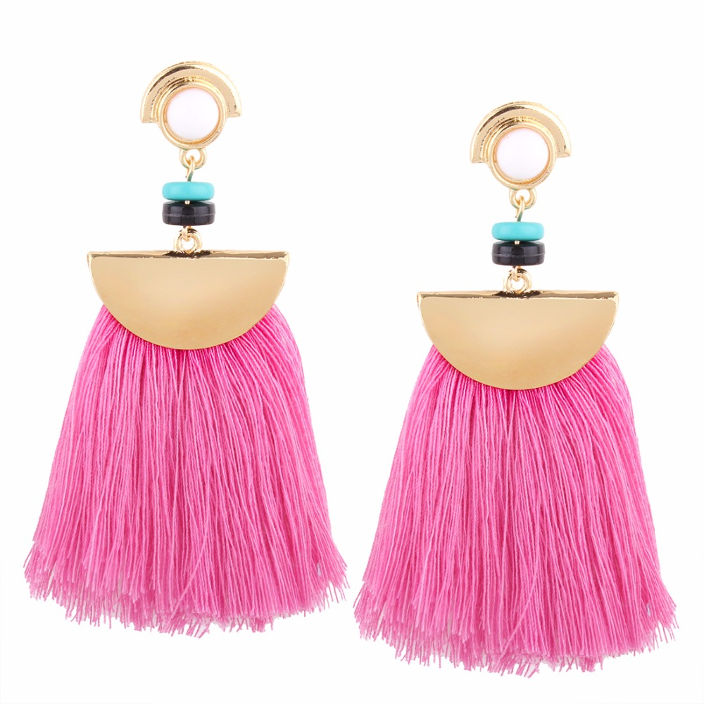 2017 Latest Earring Design Fashion 18K Gold Plated Women Tassel Earring