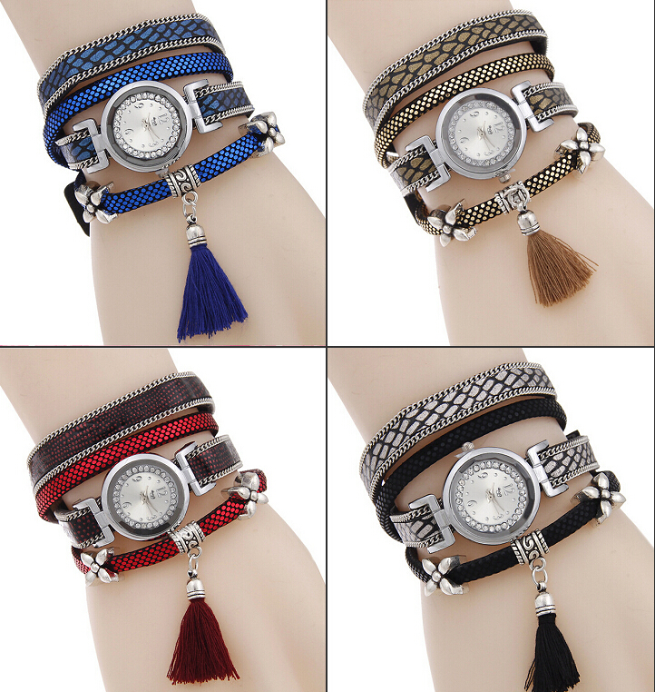 2016 IN STOCK mixed new design cheap elegance fashion tassel watches for sales