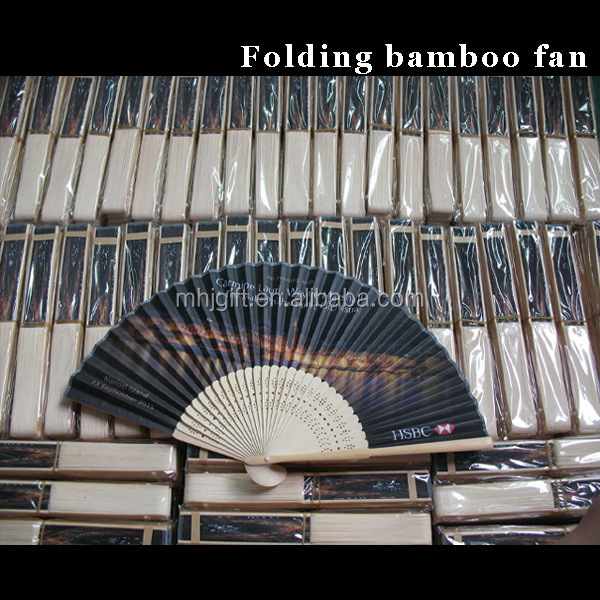 Bottom price High quality silk hand held fans