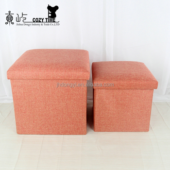 Hot Sale Foldable Home Goods Square Puff Ottoman With Storage Furniture  Chair Alibaba China