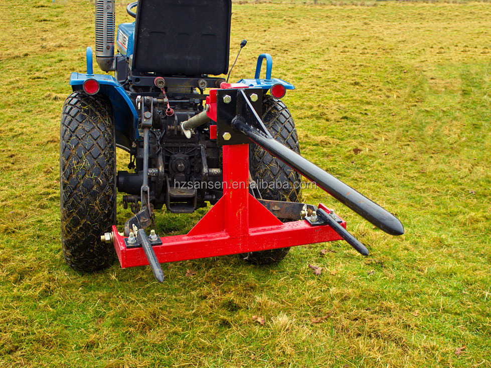 Two Point Tractor : Tractor mounted point bale spear with ce hay