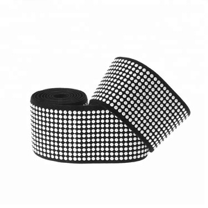 White color polyester elastic webbing material for ratchet strap